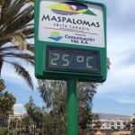 Photo of sign reading Maspalomas 25C