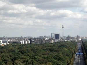 Photo of Berlin Skyline, showing TV Tower, Reichstag and other buildings