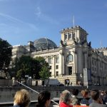 Reichstag building seen from the river