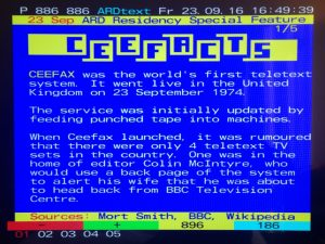 Information about Ceefax displayed on ARDtext