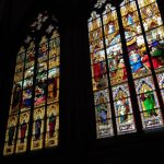 Photo of stained glass windows in Cologne Cathedral