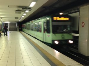 Tram-Train in a Cologne Stadtbahn underground station