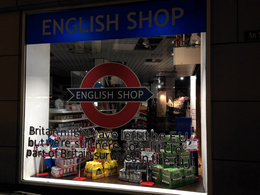 Photo of the shop window of the English Shop, Cologne