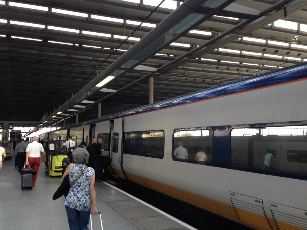 Photo of Eurostar train at St Pancras