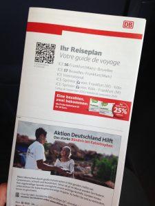 Reiseplan (German timetable leaflet)