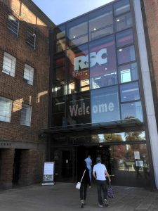 Entrance to the RSC Theatre in Stratford-upon-Avon