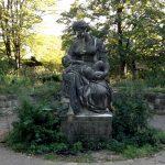 Statue in Volkspark Friedrichshain