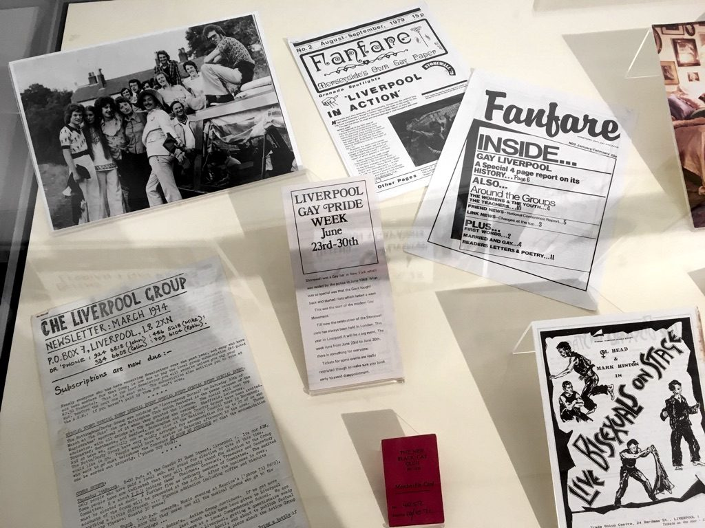 Cuttings and leaflets from Liverpool gay rights organisations