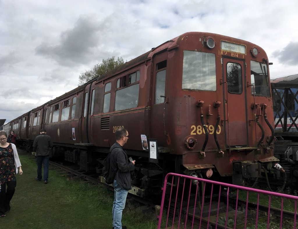 Photo of Class 503 electric multiple unit at Electric Railway Museum