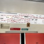 Photo of Network South East line diagram above doors