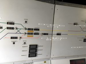 Photo of Victoria Line signalling panel