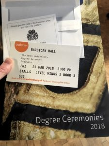Picture of Degree Ceremonies booklet and ticket