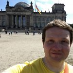 Selfie of Robert in front of the Reichstag