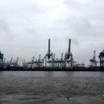 Cranes in Hamburg Docks