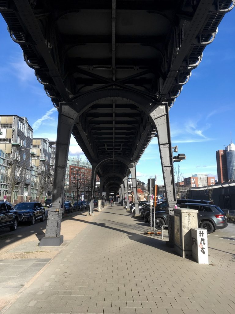 View from beneath the Hamburg Hochbahn