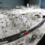 Snowy scene with train, Miniatur Wunderland