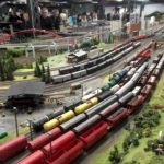 European scene with lots of trains and tracks, Miniatur Wunderland
