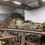 Model of Mount Vesuvius with train passing on viaduct, Miniatur Wunderland