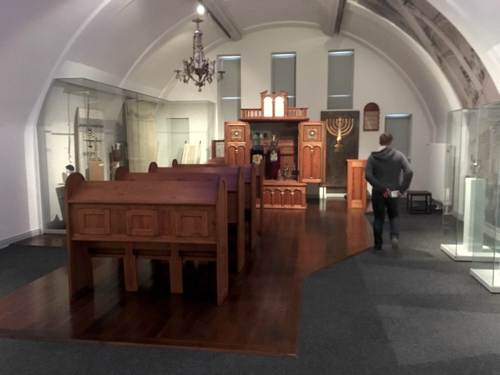 Reconstruction of synagogue in Museum of Hamburg