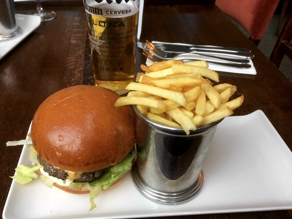 Photo of Burger, Fries and a Pint