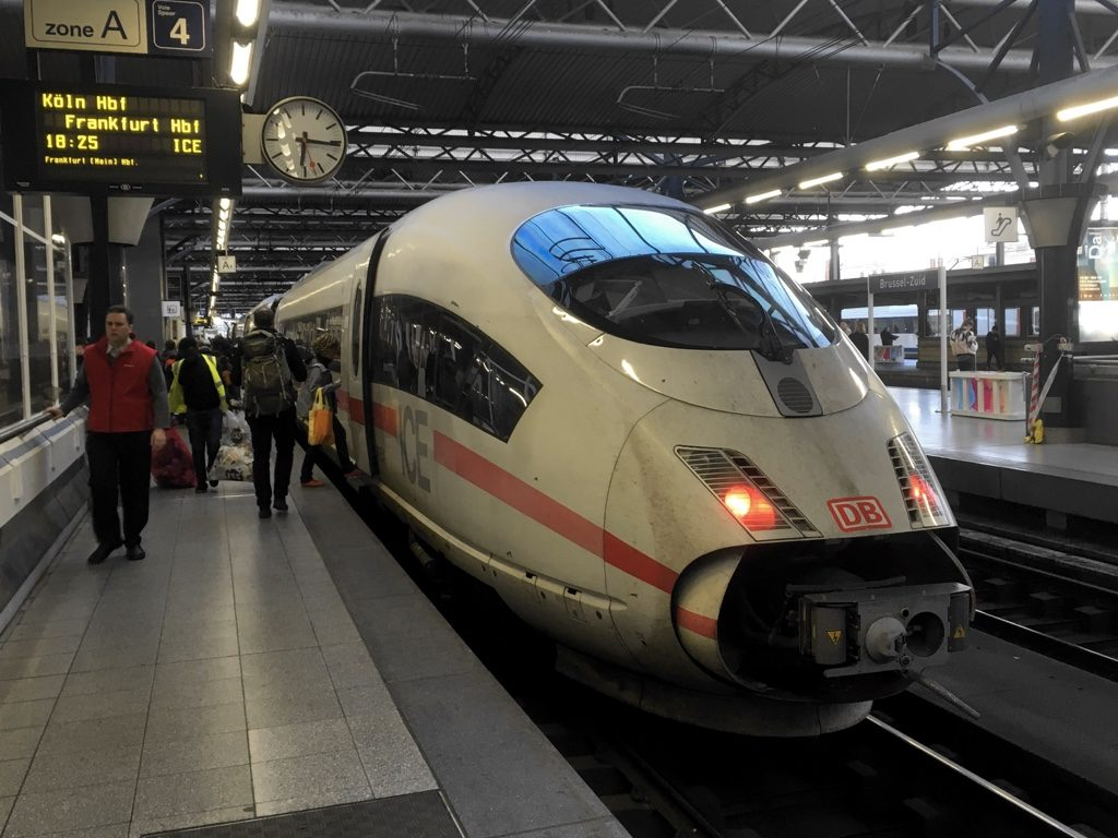 DB ICE3 train at Brussels