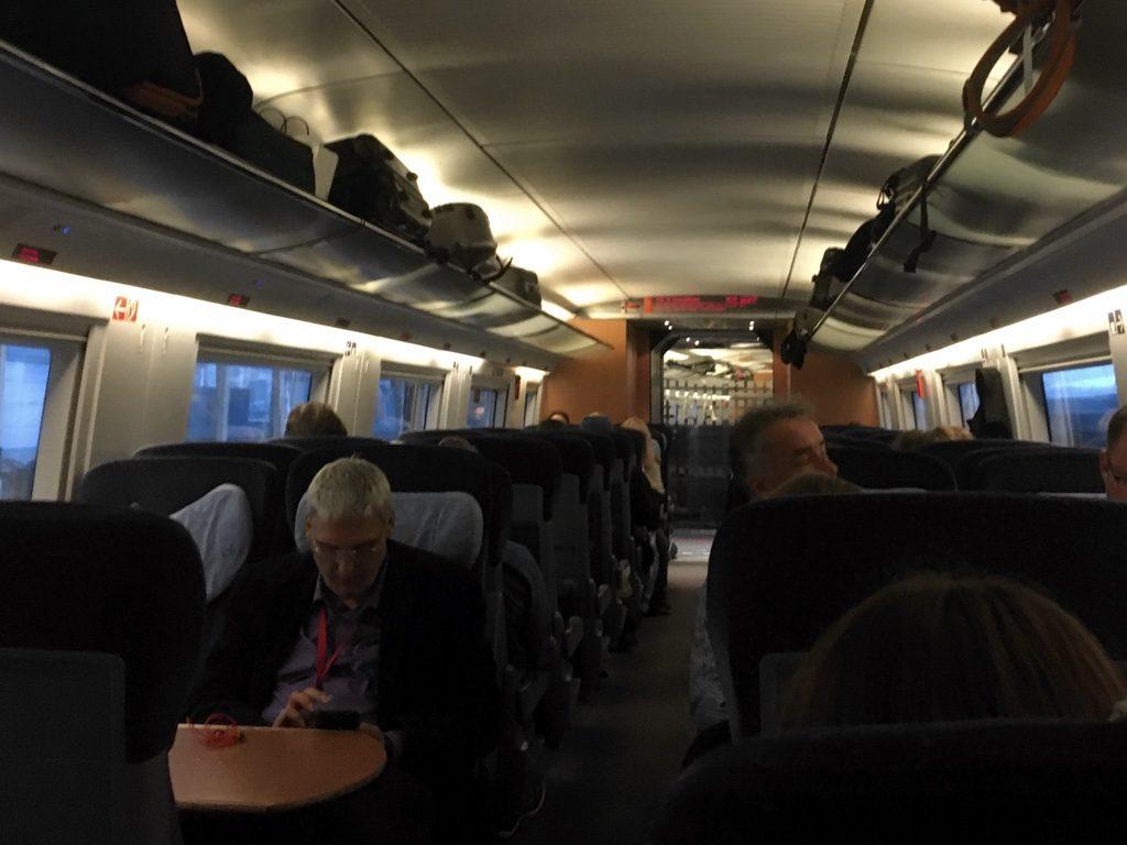 Interior of DB ICE train