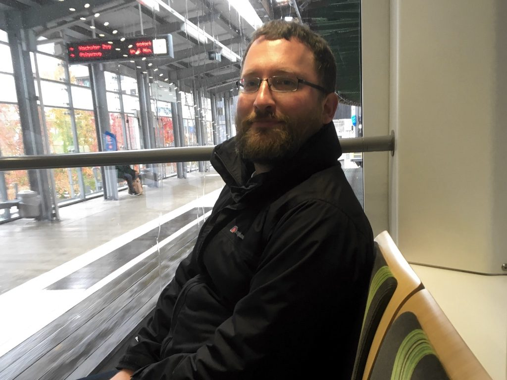 Photo of Paul in rear seats (with view) on Schwebebahn
