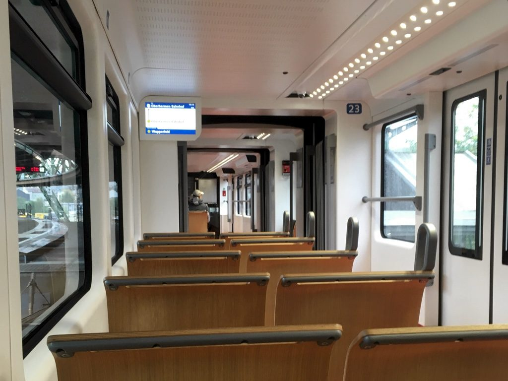 Photo of Schwebebahn train interior