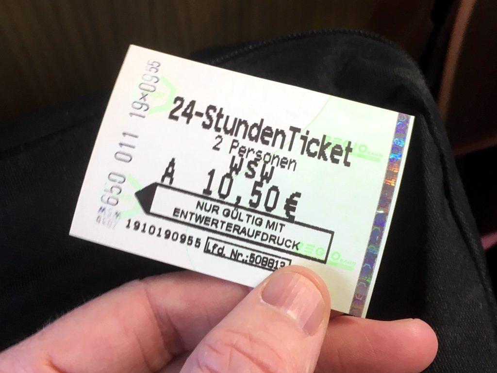 """""""24-StundenTicket"""" for Wuppertal Schwebebahn"""