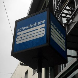 "Photo of ""Schwebebahn"" station totem sign"