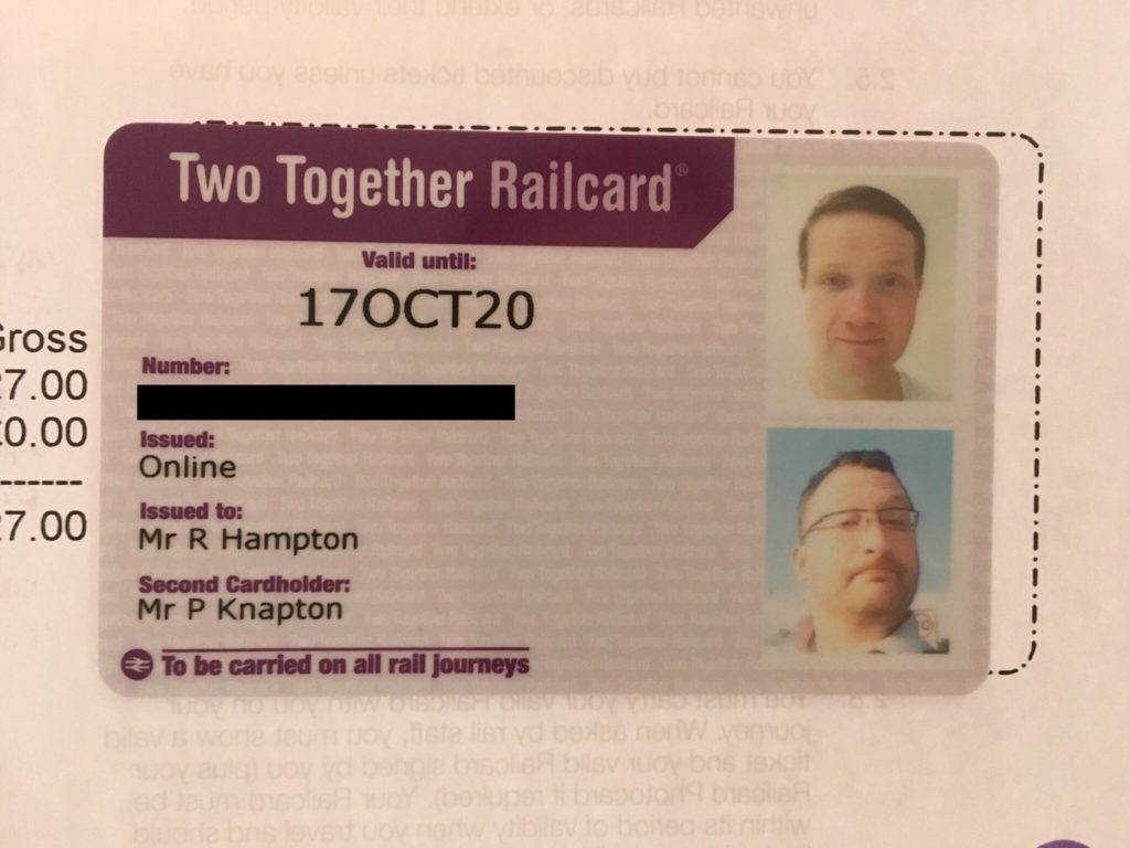 Photo of Robert and Paul's Two Together Railcard