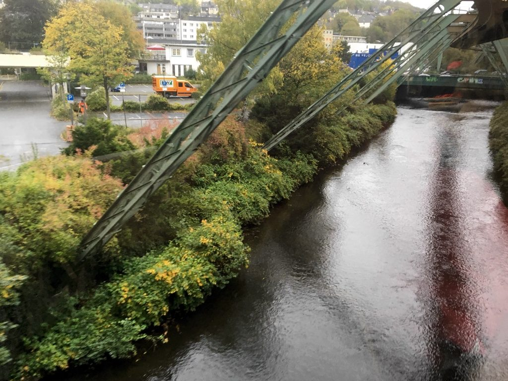 View from Schwebebahn over River Wupper