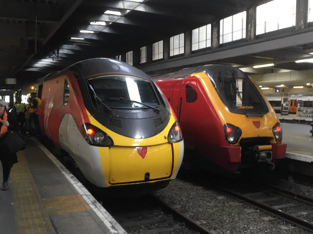 Photo of Virgin Pendolino and Voyager trains at Euston