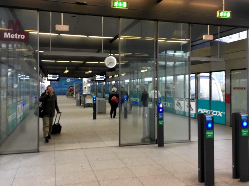 Copenhagen Airport Metro station entrance
