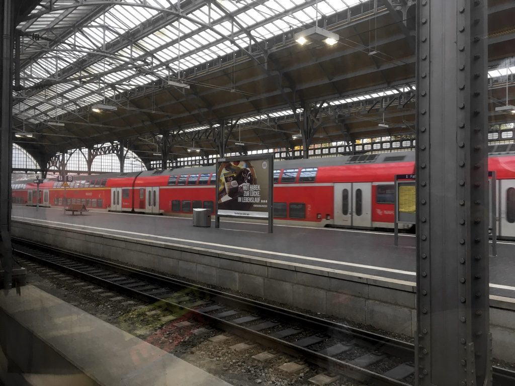 Photo of Lübeck Hauptbahnhof seen from the train