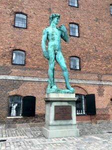 Replica of Michelangelo's David sculpture