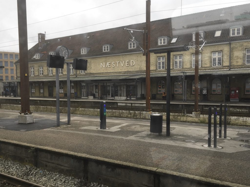 Photo of Næstved station from the train
