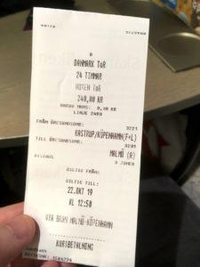 Skånetrafiken ticket for Øresundståg