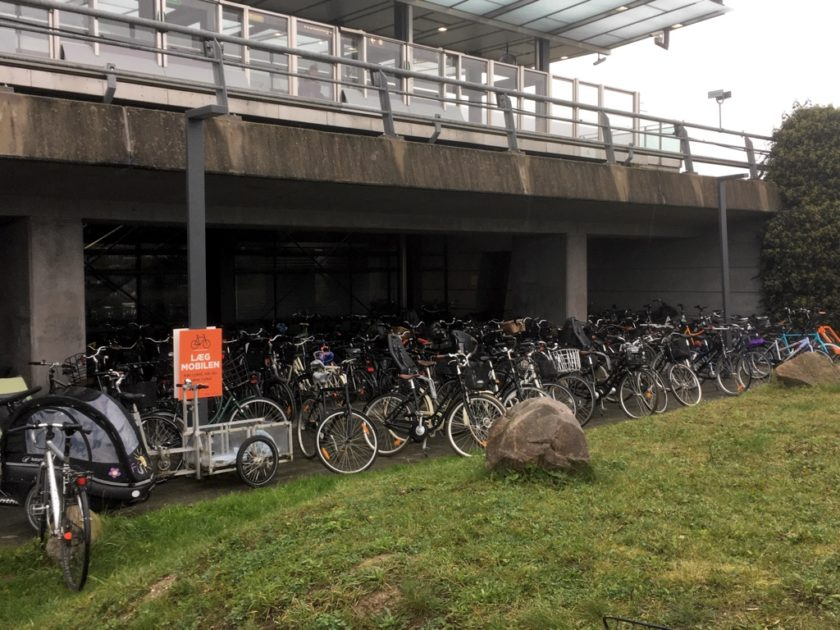 Photo of bicycle storage at Vestamager station