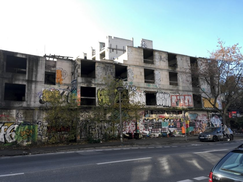Photo of abandoned, derelict, burnt-out building