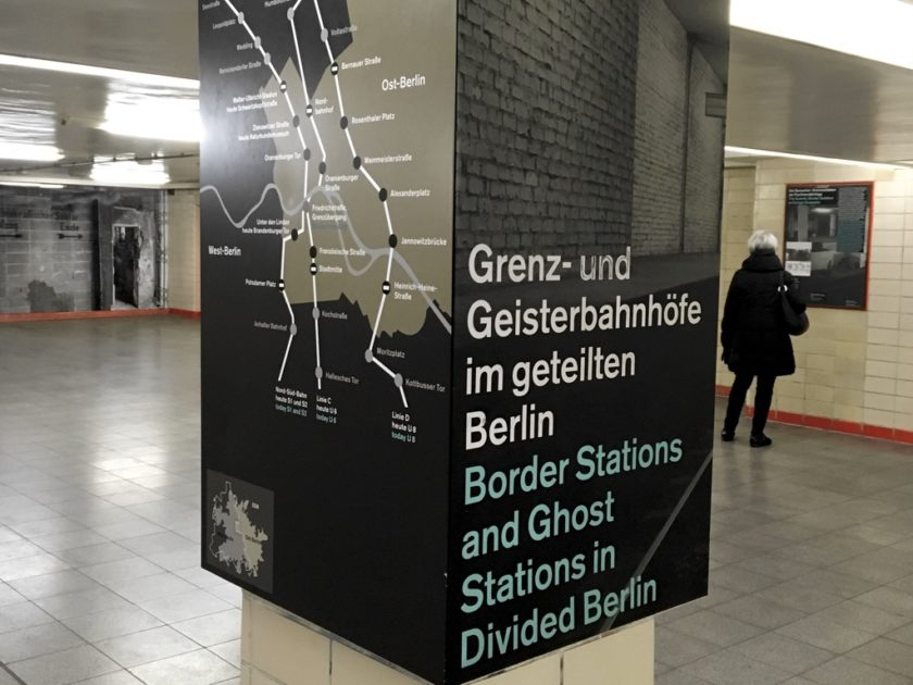 "Exhibit in Nordbahnhof ""Border Stations and Ghost Stations in Divided Berlin"""