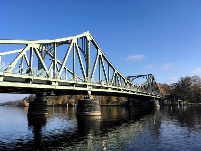 Photo of the Glienicke Bridge over the River Havel