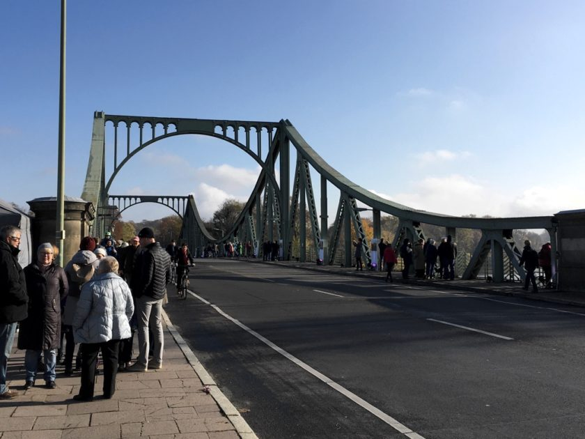 Photo of the Glienicke Bridge from road level