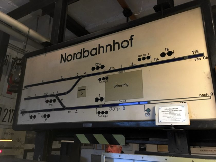 Photo of signalling diagram of Nordbahnhof station