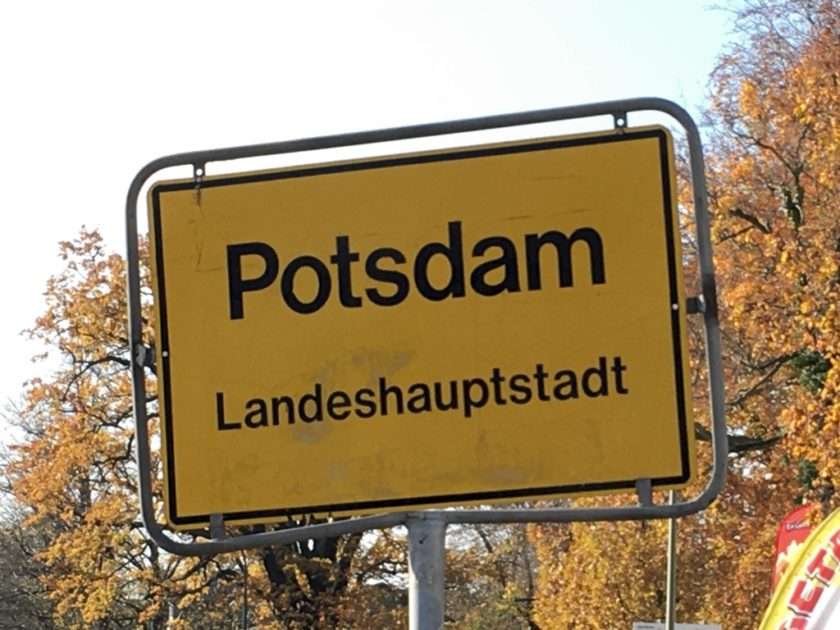 "Sign reading ""Potsdam - Landeshaupstadt"""