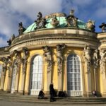 Sanssouci Palace with cherub sculptures