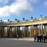 Ornate columns at Sanssouci Palace