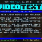 "Photo of ""Videotext"" page from ARDtext"