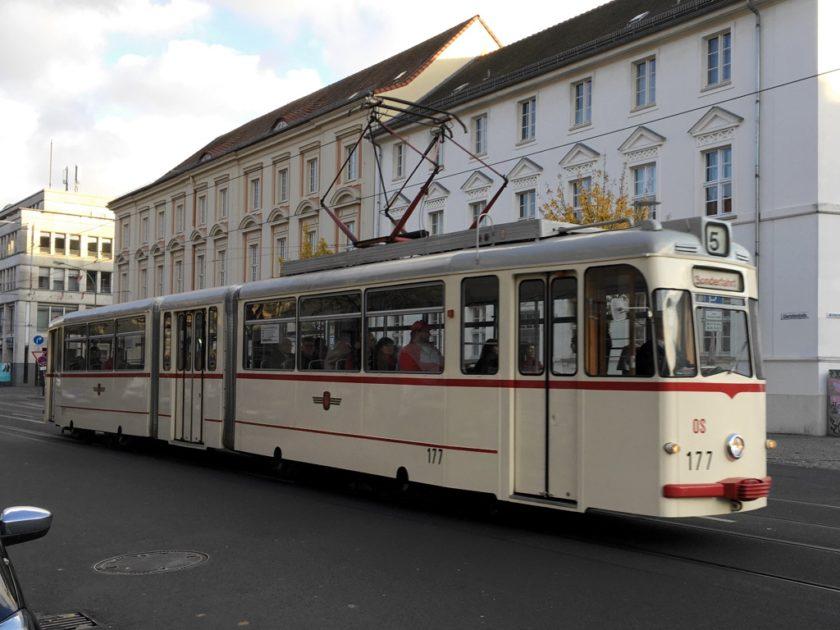 Vintage tram in Potsdam