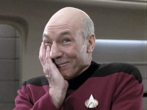 Captain Picard giggling